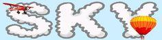 Patterns for styrofoam biplanes, clouds, etc.