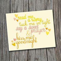 Printable Wall Art  DIY Baby Nursery Rhyme by SplashOfSilver, $0.99