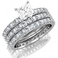 ec9de1f6bb3a5d 51 Best Trio Rings Set images in 2014 | Bridal sets, Halo rings, 2 carat