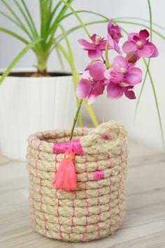 Petite panière en corde naturelle Atelier Fleur de Mai