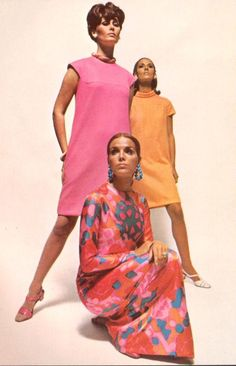 Vintage Fashion the sixties 60s Fashion Trends, Seventies Fashion, 60s And 70s Fashion, 60 Fashion, Pink Fashion, Fashion History, Fashion Photo, Retro Fashion, Vintage Fashion