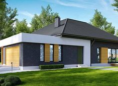 Projekt domu HomeKoncept-27 136,58 m² - koszt budowy - EXTRADOM Layouts Casa, House Layouts, Village House Design, House Front Design, Beautiful House Plans, Beautiful Homes, Contemporary House Plans, Modern Fireplace, Residential Architecture