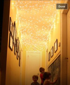 Put lights on ceiling for magical pathway!