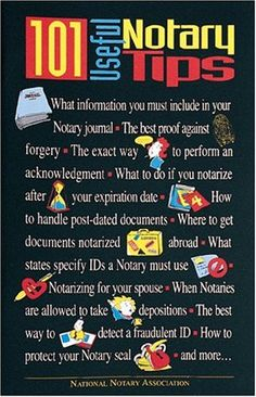Pdf Online 101 Useful Notary Tips - [FREE] Registrer - By National Notary Association Financial Peace, Financial Success, Notary Public, Notary Jobs, Become A Notary, Mobile Notary, Bookkeeping Business, Looking For A Job, Amigurumi