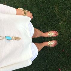 need these gold sandals