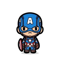 marvel cartoon Did yall catch Civil War on the weekend Here, another vintage Cap to start your Monday. Baby Marvel, Chibi Marvel, Baby Avengers, Marvel Art, Marvel Heroes, Marvel Avengers, Marvel Superhero Logos, Avengers Cartoon, Marvel Cartoons
