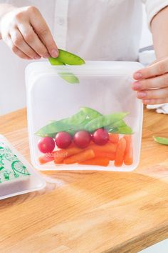 stasher's solid silicone bags, discovered by The Grommet, are a reusable alternative to plastic, and can go from pantry to freezer, microwave, and dishwasher.