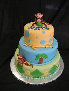 Monkey Cake By vjones20 on CakeCentral.com