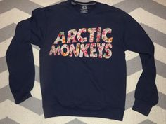 Arctic Monkeys Crewneck Sweatshirt Ready To Ship by TheArtSwallow
