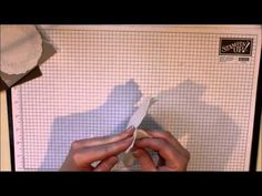 A creped filter paper flower tutorial.