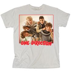 one direction merchandise | One-Direction-One-Direction-Red-Band-Photo-White-T-Shirt.jpg