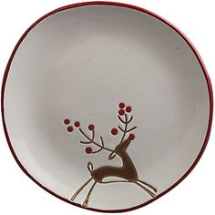 Prancing Reindeer Set of 4 Plates found at Ceramic Fish, Ceramic Clay, Ceramic Pottery, Pottery Art, Painted Pottery, Painted Plates, Pottery Painting Designs, Pottery Designs, Pottery Ideas