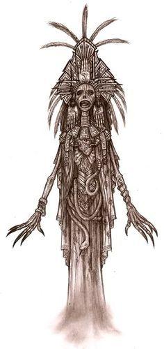 Image result for aztec santa muerte