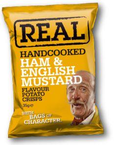 Ham & English Mustard   REAL Hand Cooked Crisps