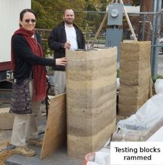Rammed Earth - I want a rammed earth floor in my straw bale house or yurt. Rammed Earth Homes, Rammed Earth Wall, Building Structure, Green Building, Magic House, Eco Architecture, Terracota, Natural Building, Earthship