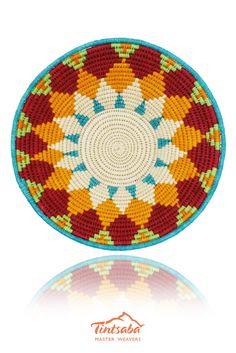 16cm craft grade sisal handwoven basket by Tintsaba in Swaziland.