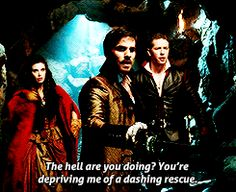 "Hook: ""What the hell are you doing? You're depriving me of a dashing rescue."""