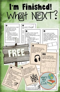 These activities keep students busy, but they are not busy work. They are valuable extension activities that encourage students to manipulate the material they have just learned in new and creative ways.