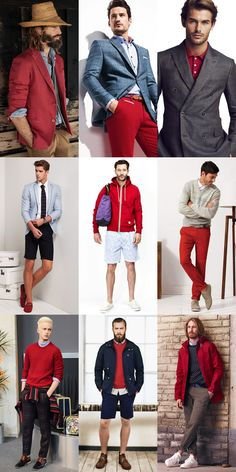 Men's 2014 Spring/Summer Shades Of Red Colour Trend: Primary Red Lookbook Inspiration