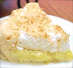 Coconut Meringue Pie: For a super high topping, double the meringue recipe, and add 1/2 tsp cream of tartar for every 5 egg whites used