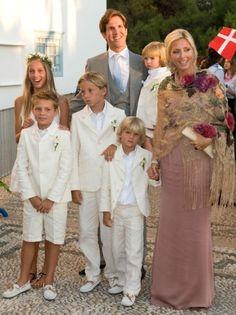 EXILED:  Crown Prince Pavlos and Crown Princess Marie Chantal: The children. Princess Maria Olympia, Prince Achileas Andreas, Prince Constantine Alexios, Prince Aristides Strauos, and Prince Odysseas-Kimon.