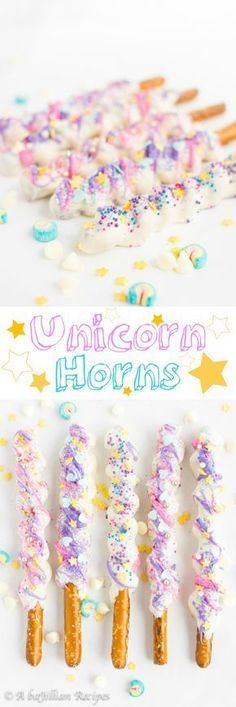 Unicorn desserts for a unicorn party: Unicorn Horns Party Unicorn, Unicorn Baby Shower, Unicorn Birthday Parties, 10th Birthday, Girl Birthday, Birthday Ideas, Cake Birthday, Rainbow Unicorn, Birthday Invitations