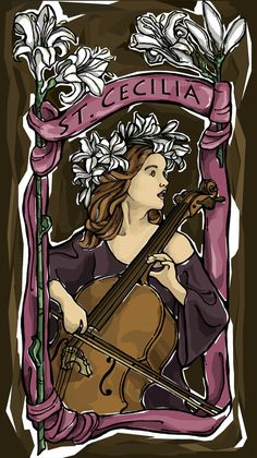 St. Cecilia Prayer Card for Musicians by TheSocietyofSaints