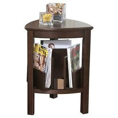 Larimer Triangle End Table Dark Brown - Signature Design by Ashley : Target