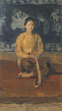 Isaac Israëls - Wanita Jawa Duduk