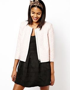 Image 1 ofRiver Island Collarless Tailored Jacket
