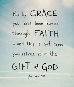 Saved by grace through faith. It is a gift! He will not take it back!