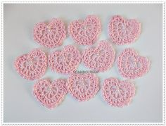Hey, I found this really awesome Etsy listing at https://www.etsy.com/listing/496046039/crochet-applique-pink-crochet-heart