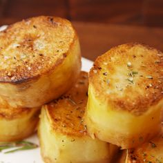 So good they melt in your mouth. The post Fondant Potatoes appeared first on Food Monster. Veggie Recipes, Vegetarian Recipes, Cooking Recipes, Healthy Recipes, Easy Cooking, Easy Recipes, Best Potato Recipes, Cooking Fish, Protein Recipes