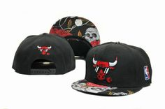 NBA Hats Chicago Bulls Snapback Hot styles Roses and skeleton Hats Black 7977|only US$8.90