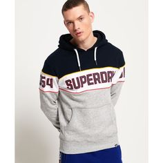 Shop Superdry Mens Retro Stripe Hoodie in 3 Pointer Navy/optic/street Works Grit. Buy now with free delivery from the Official Superdry Store. Superdry Style, Superdry Mens, Superdry Fashion, Bodybuilding Clothing, Moda Casual, Womens Fashion Online, Mens Sweatshirts, Pulls, Outfit