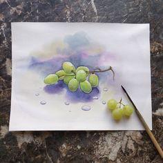 Виноградный скетч...#акварель #ярисую #фрукты #ягоды #виноград #арт #скетч #скетчбук #рисуйкаждыйдень #сейчас_рисую #watercolor #watercolour #sketchbook #иллюстрация #sketching #sketch #fruit #berries #art #artwork #instaart #illustration #капливоды #water #paint #painting #watercolorpaint #grapes #aquarelle #akvarell