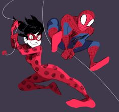 Miraculous Ladybug/Spiderman by cigar-blues - Ladybug and Spiderman