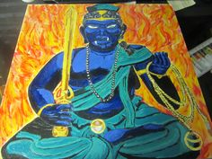FUDO-MYOO - Acrylic - Color on Birch Wood
