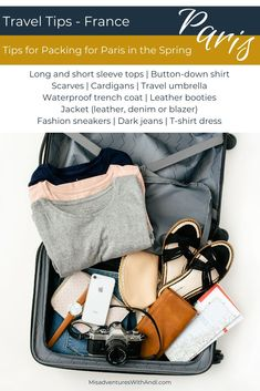 Packing for Paris in the Spring - What to wear and how to pack for a trip in the spring. Things to keep in mind when planning what to wear in Paris in the spring. The trick? Layers! The weather can change hourly during this season so packing requires even more thought! #ParisStyle #ParisTravel #ParisWardrobe #ParisOutfits #ParisGuide #ParisPacking #PackingTips