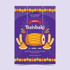 Flat design happy baisakhi poster. Download for free at freepik.com! #Freepik #freevector #poster #happybaisakhi Graphic Design Templates, Modern Graphic Design, Lohri Greetings, Baisakhi Festival, Happy Baisakhi, Happy Lohri, Festival Background, Happy People, Flat Design