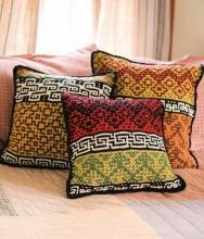Berroco: Christoph 3 pillows- mosaic garter