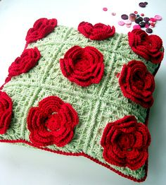 a cushion of roses by helen limbrick, via Flickr