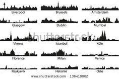 Find Vector Silhouettes Cities Silhouettes stock images in HD and millions of other royalty-free stock photos, illustrations and vectors in the Shutterstock collection. Thousands of new, high-quality pictures added every day. Skyline Silhouette, Silhouette Vector, Skyline Tattoo, City Sketch, City Logo, Illustration, Stock Foto, Helsinki, Glasgow