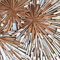 We are loving these wall sculptures by New Zealand-based artist Louise McRae made from pieces of discarded wood. Eco and beautiful…what could be better?
