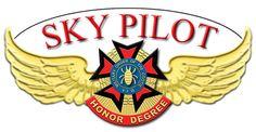 Sky Pilot Pin Enhanced in Photoshop.