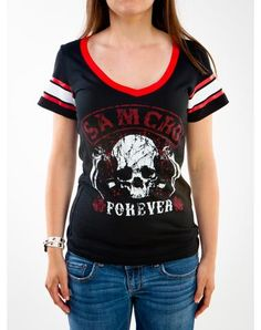 Sons Of Anarchy 'Samcro Forever' Hockey Junior Fitted Tee