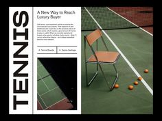 Luxury Sports — Tennis Layout by Marko Cvijetic on Dribbble Graphic Design Posters, Typography Design, Branding Design, Design Design, Poster Layout, Print Layout, Editorial Layout, Editorial Design, Foto Magazine