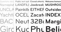 Bryant font specimen