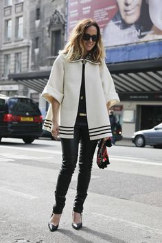 LOVING the trapeze coat this winter!
