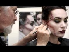 ▶ M∙A∙C Rick Baker - How To Create the Monster's Bride - YouTube - This is amazing and it's not as hard as you'd think but id do a practice first. You could do just one side of stitches / scars. Just HAVE FUN..